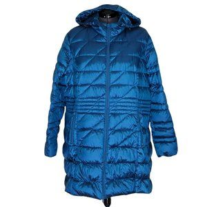 Lane Bryant Puffer Down Quilted Hooded Coat Long
